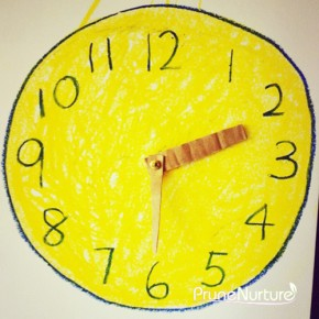 Teaching concept of time to toddler