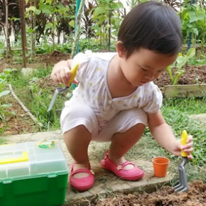 Fun gardening time for our little gardener-to-be