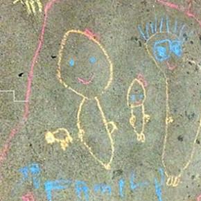Dot went chalk doodling