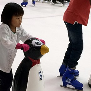 Dot's first ice-skating experience at The Rink
