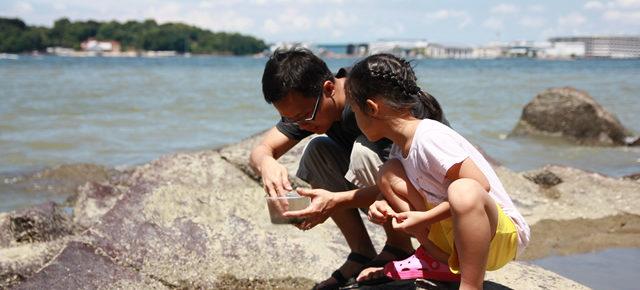 Explore nature with kids at Pulau Ubin